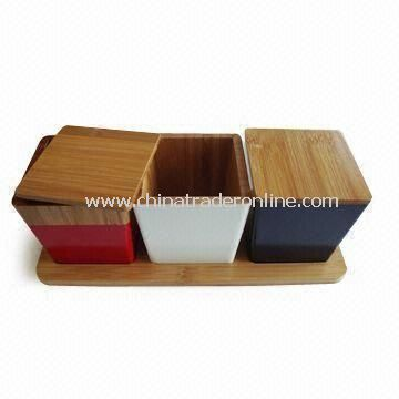 Bamboo Spice Rack, Available with Color Paint Finish and Carbonization from China