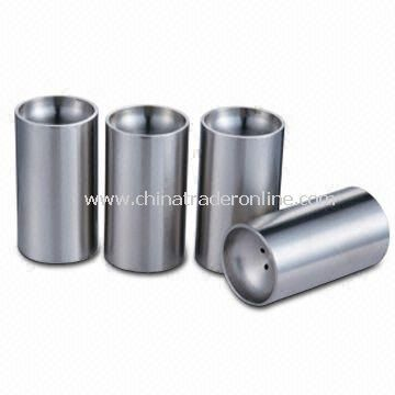 Pepper Holders, Made of Stainless Steel and Silicon Materials and Customized Logos Available