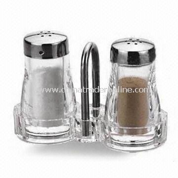 Salt and Pepper Shaker for Table Decorations, with Charming Design, Made of Acrylic