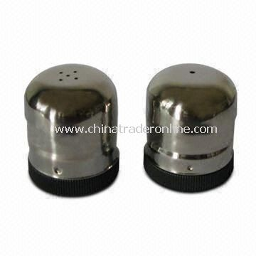 Salt and Pepper Shakers, Made of Stainless Steel, with Beautiful Design, Durable