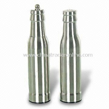 Stainless Steel Salt and Pepper Set, Available in Various Specifications