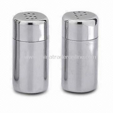 Stainless Steel Salt and Pepper Shaker with Beautiful Design, Durable