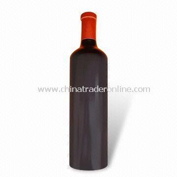 Wine Bottle Shaped Wooden Pepper Mill with Ceramic Grinder, Same Size as Wine Bottle