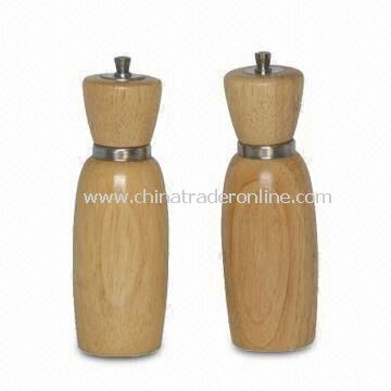 Wooden Salt and Pepper Mill, Different Designs and Sizes Available
