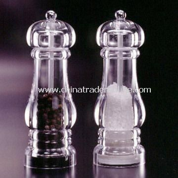 Classic Pepper Mill, Made of Acrylic Material, Measures 6.0 x 17.5cm