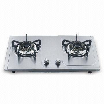 Gas Stove, Non-oil Sticking, Easy Cleaning, with Flame-out Protection Device from China