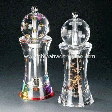 Golf Pepper Mill, Made of Acrylic Material, Measures 7.0 x 18.0cm