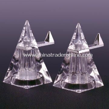 Mini Pyramid Pepper Mills, Measures 11.0 x 7.0 x 13.0cm, Made of Acrylic