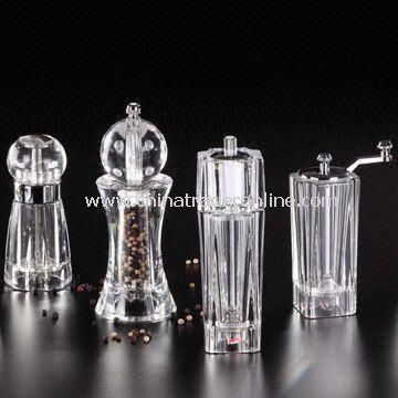 Pepper Mill in New York Style, Made of Acrylic, Suitable for Kitchen Decoration