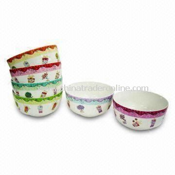 Porcelain Bowls, Available in Different Designs and Shapes