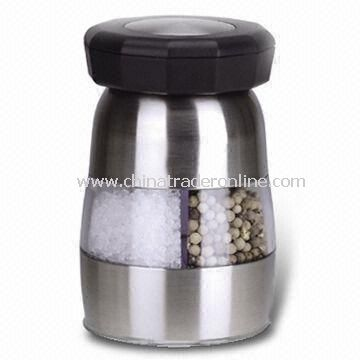Salt and Pepper Mill, Made of Stainless Steel and Acrylic