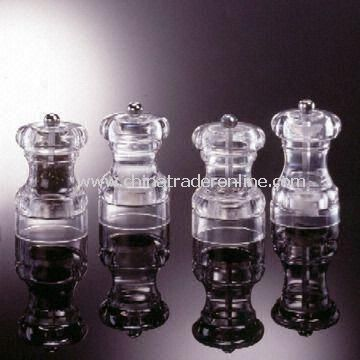 Short ET Pepper Mills, Made of Acrylic Material