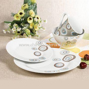 16-piece Round Dinnerware Set, Made of Porcelain and Measures 0.042cbm/Carton