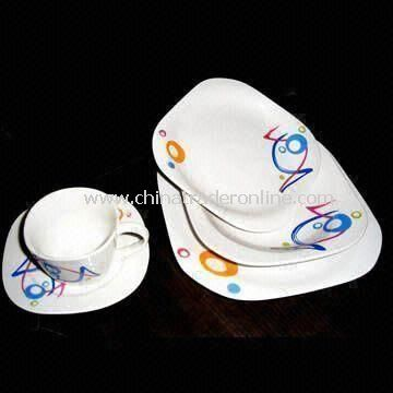 20 Pieces Dinner Set, Made of porcelain, Acceptable in Different Kinds of Styles and Colors