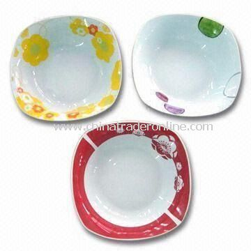 9.25-inch Square Bowl, Customized Designs and OEM Orders are Accepted