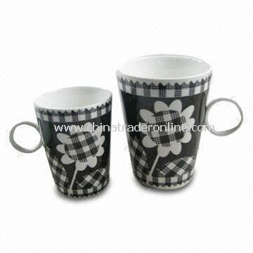 Coffee Cups, Weighs 1kg, Made of Porcelain
