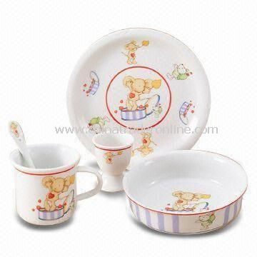 Dinnerware Set, Available in Various Sizes, Made of Porcelain