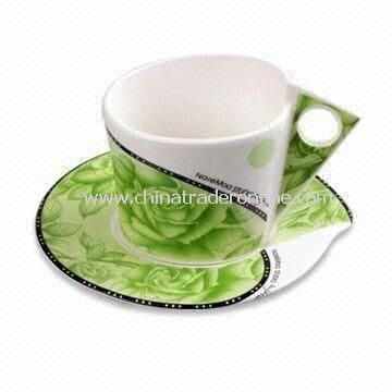 Fine Porcelain Mug with Pretty Design and Proposition 65 Certification