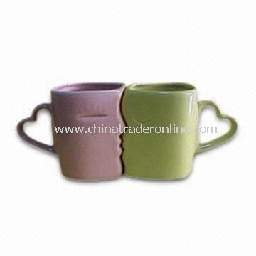 New Lover Porcelain Cup, Various Color Glaze and Decal are Available, US Proposition 65
