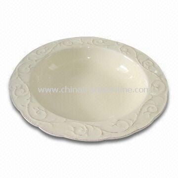 Porcelain Bowl with Antique Design, 25.5 x 25.5 x 5cm Dimension