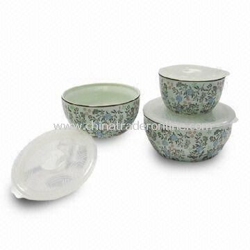 Porcelain Bowls with High Firing Porcelain and No Lead and Cadmium