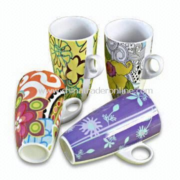 Porcelain Cup Available in Decal Design, ODM Orders are Accepted