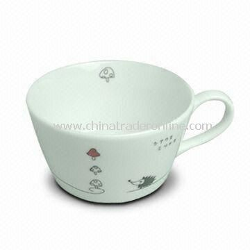 Porcelain Cup with Decal, Customized Designs are Welcome