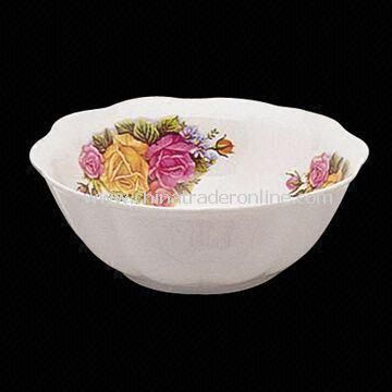 Porcelain Cut Edge Lotus Bowl with Flower, Safety, Health and Durable