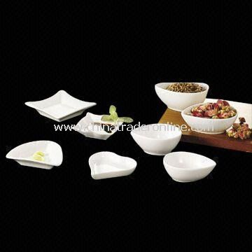Porcelain Dinnerware, Available in Various Designs and Shapes, OEM Orders are Welcome