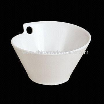 Porcelain Salad Bowl with Hole, Can be Used for Ornaments and Food Services