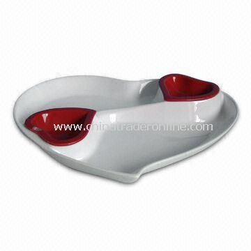 Porcelain Tapas Set/Dip/Snack Dish with EEC Food Contact Safe/FDA Standard, OEM Orders are Accepted