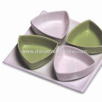 Porcelain Tapas Set with 18 x 18cm Tray