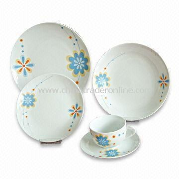 Tableware/Dinnerware with Hand-painted Designs, Made of A and AB Grade Porcelain from China