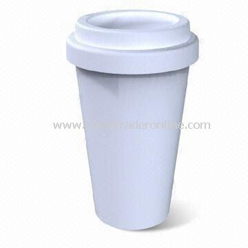 300mL Thermal Double Wall Porcelain Mug, Suitable for Home or Office Use