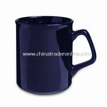 Black Coffee Mug, Made of Porcelain, Customized Designs are Accepted