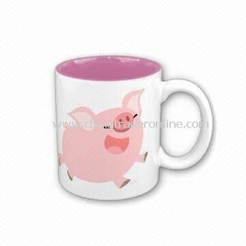 Coffee Mug, Made of Porcelain Material, Customized Designs, Sizes, and Shapes Available