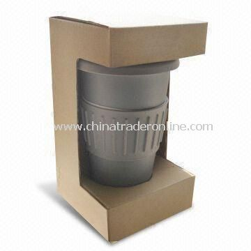 Double Wall Thermal Porcelain Mug with Paper Box Packing, Easy to Clean