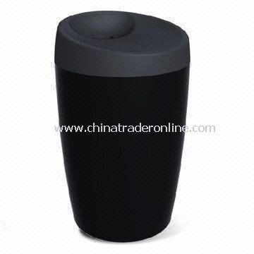 Double Wall Thermal Porcelain Mug with Silicone Lid, Suitable for Home or Office Use