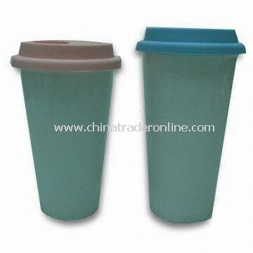 Double Wall Thermal Porcelain Mugs with 16oz Capacity, Suitable for Gift Purpose