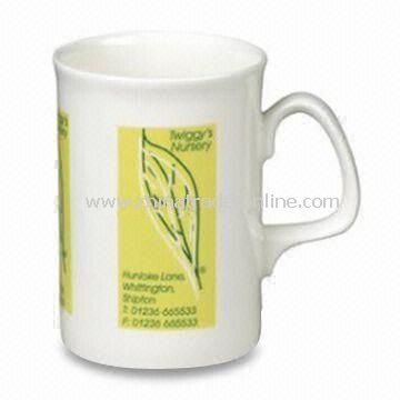 Opal Bone China Mug, Measures 104 x Ø77mm, with 320mL Capacity