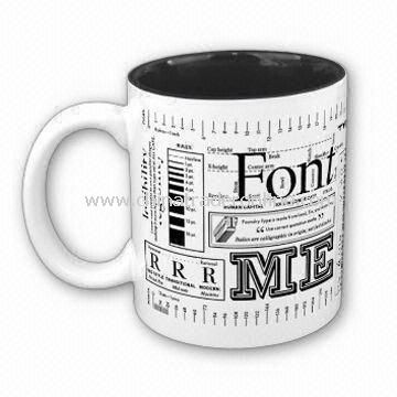 Porcelain Coffee Mug, Customized Designs, Sizes, and Shapes Available