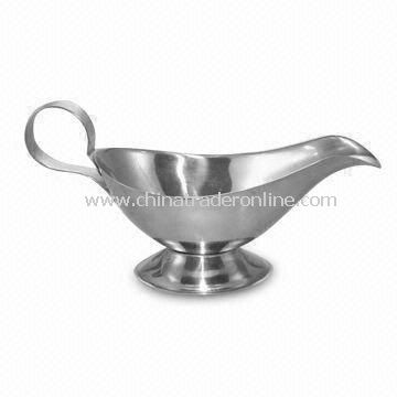 Stainless Steel Gravy Boat, Available in 4-10oz, OEM Orders are Accepted