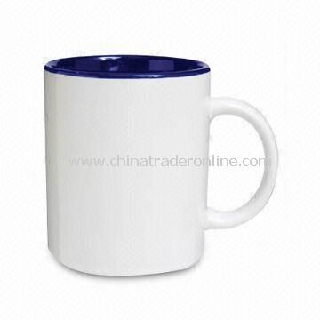 White Glazed Coffee Mug, Made of Porcelain Material, Available in 8, 10, and 12oz Capacity