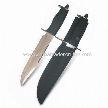 15-inch Knife with Serrated Top Edge and Thickness of 3mm