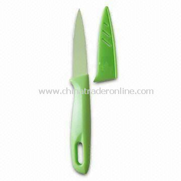 4.5-inch Mini Chef Paring Knives with Colorful Handle, Cover and Teflon Coating