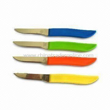 4 Veggie Utility Knives, Made of Stainless Steel Blade and PP Handle