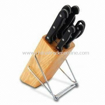 Kitchen Knife Set with New Design, Attractive Style and Easy Washing, Includes Scissors