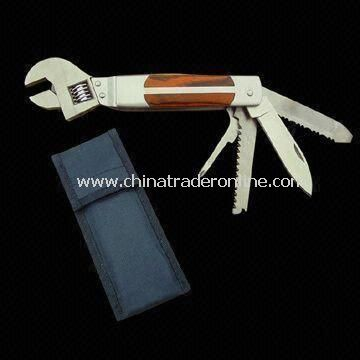 Multifunction Wrench with Serrated Knife, Flat Screwdriver and File