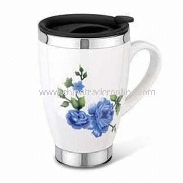 16oz Travel Mugs, Made of Stainless Steel, Customized Designs and Logos are Accepted