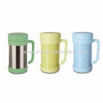 18oz Vacuum Desk Mugs, Available in Various Colors, Suitable for Lunch Use